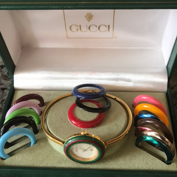 da4f411fbcf Gucci Accessories - Gucci Bangle Watch with 16 Interchangeable Rings
